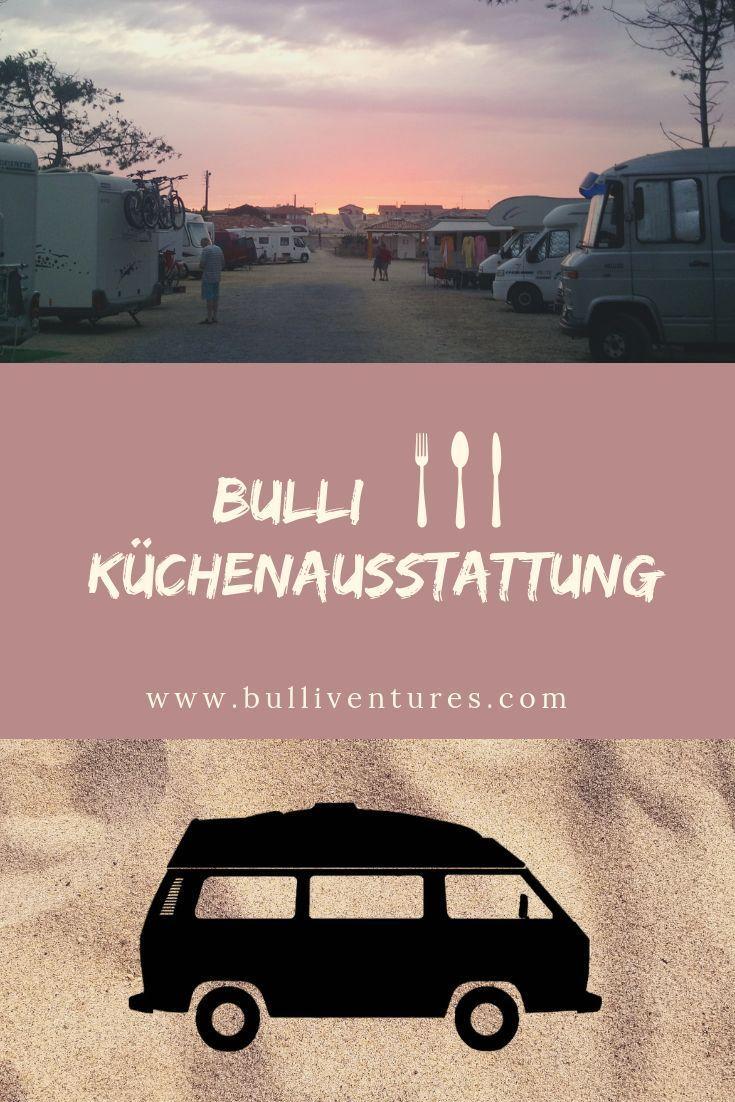 Blick in den Bulli: Küchenausstattung #essentialsforcamping
