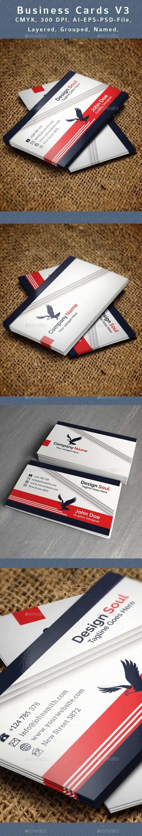 Creative Business Card V3  #template #creative #business