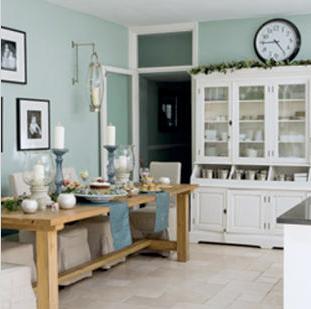 Charming Duck Egg Blue Kitchen Walls