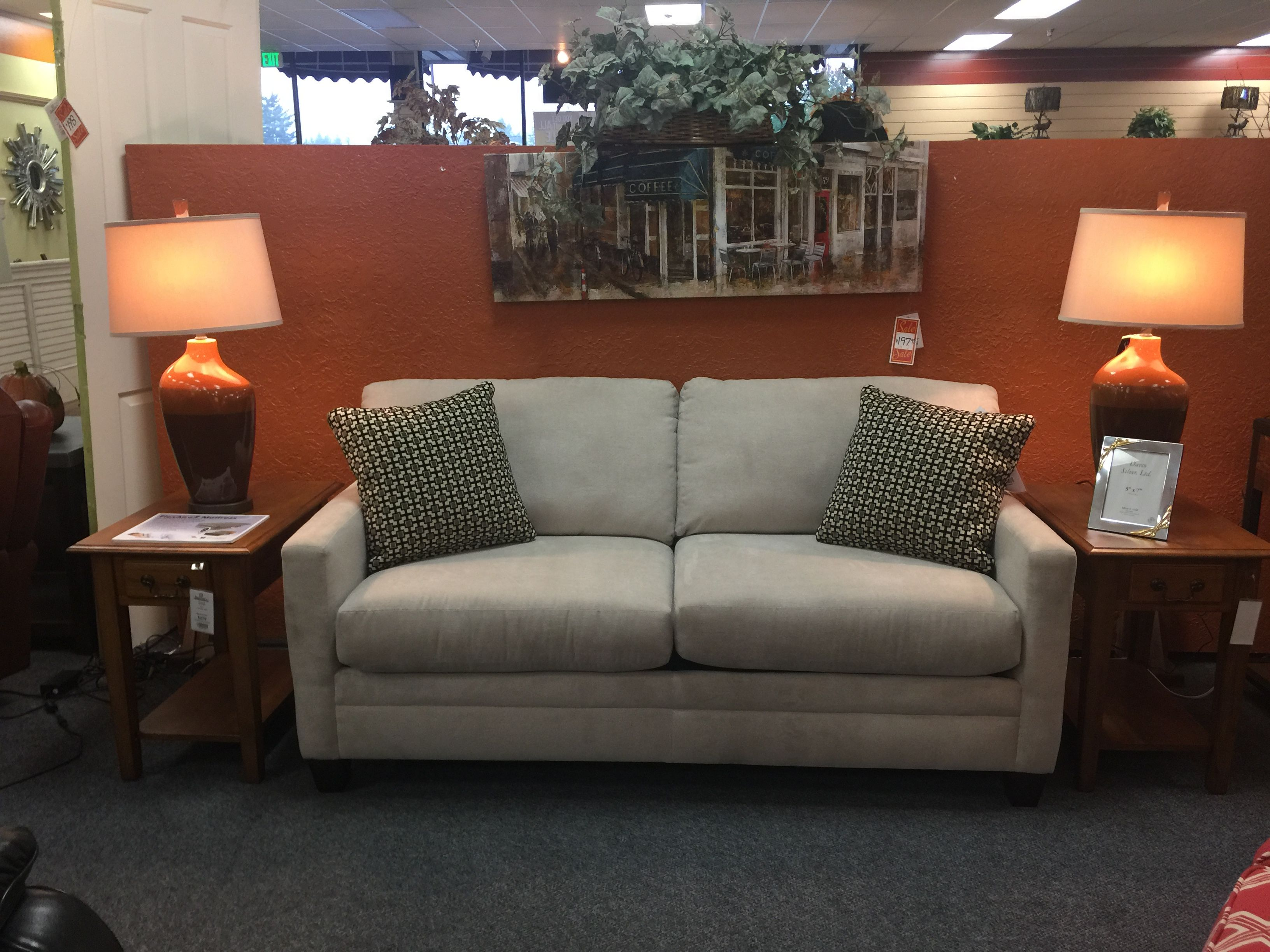 Full size sleeper with a Memory Foam mattress!  Just in time for those holiday guests!!!