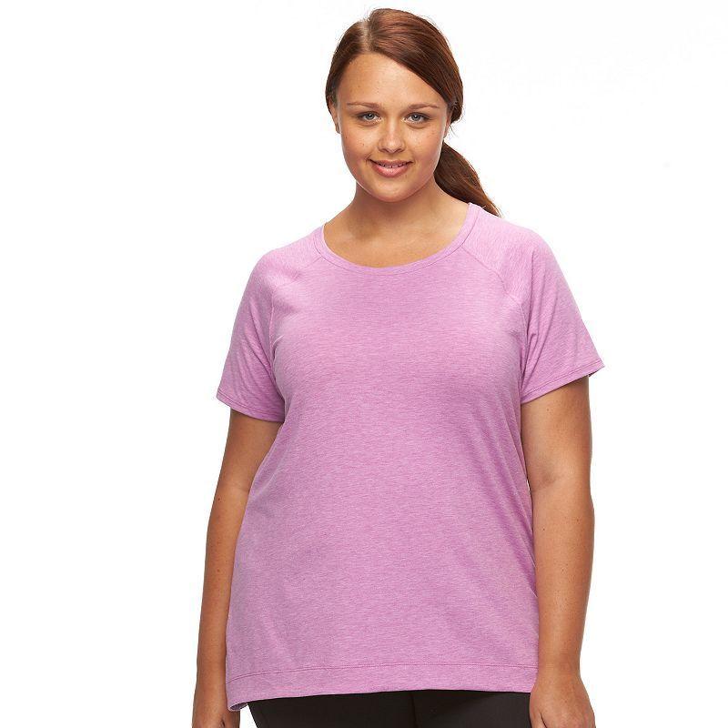 Plus Size Tek Gear® On-The-Go Easy Tee, Women's, Size: 2XL, Brt Purple