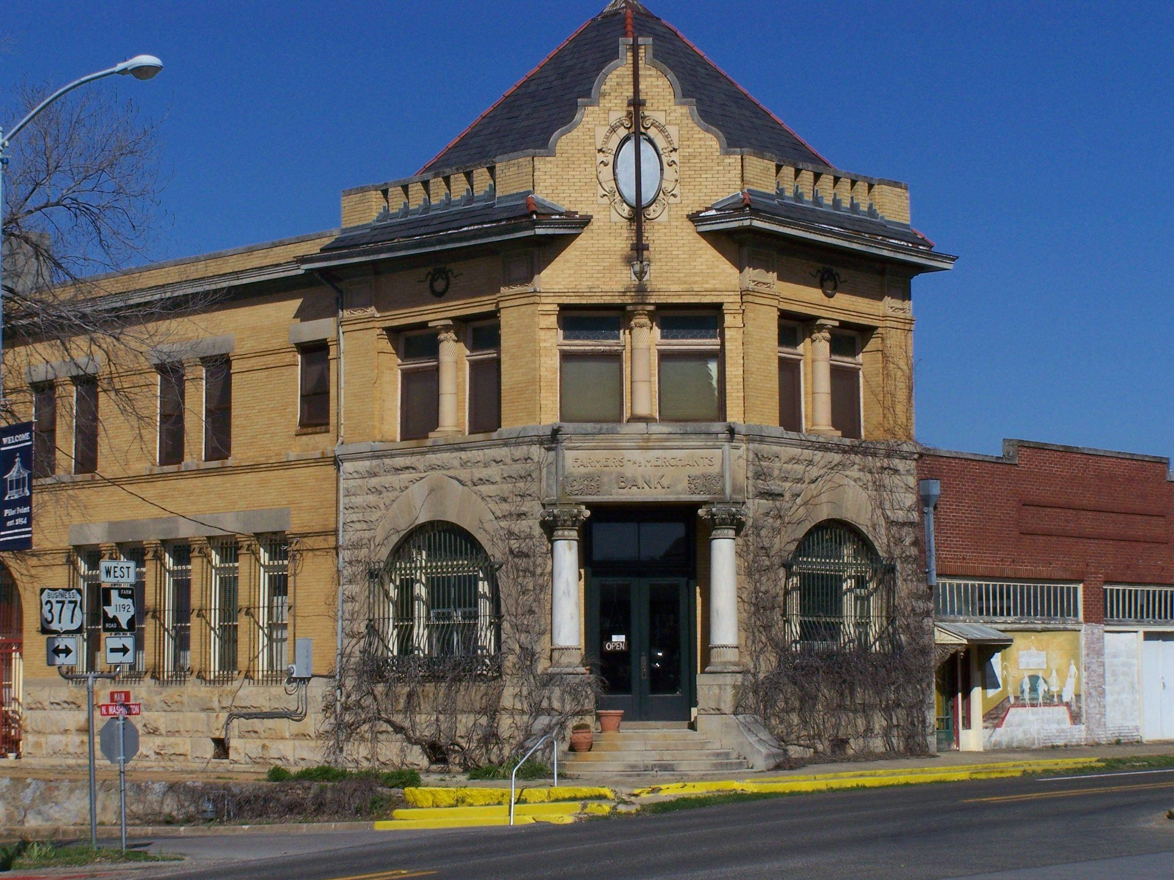 [Building] - Farmers and Merchants Bank - Pilot Point TX (est. 1899)