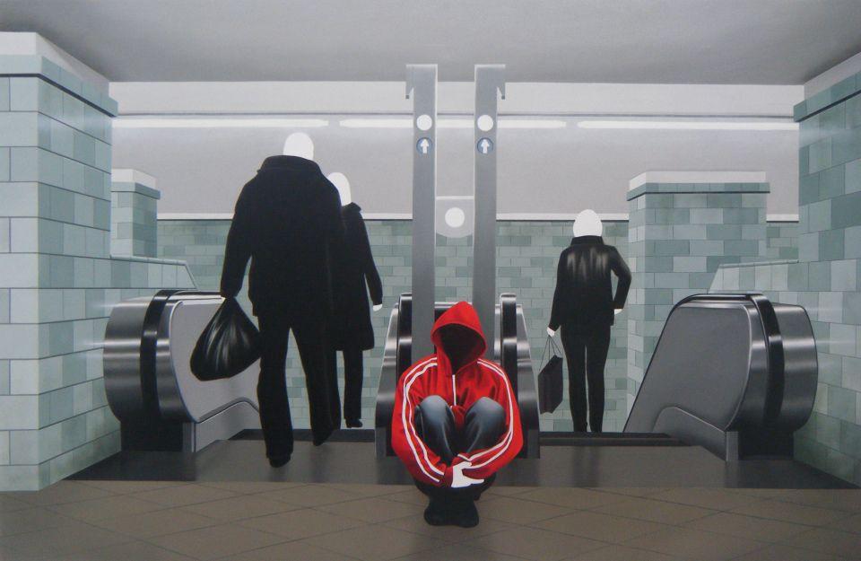"Metro | Love Series |  Acrylic on Canvas Original  | 33"" x 49"""