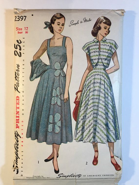 40s Sundress Pattern Simplicity 40 Misses Dress Jacket Pattern Impressive Sundress Patterns Simplicity