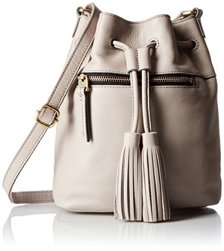 Fossil Jules Tassel Drawstring Bucket Bag Mineral Grey One Size Review More Details