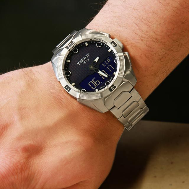Tissot T Touch Expert Solar Titanium Watch 45mm T0914204404100 Tissot T Touch Titanium Watches Tissot