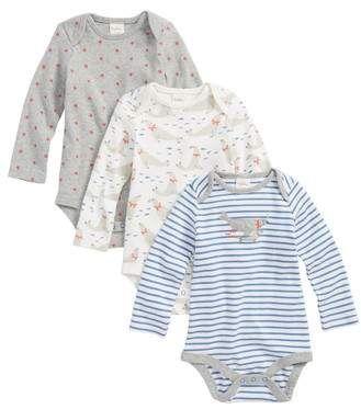 565a1d53111 Mini Boden 3-Pack Seals Organic Cotton Bodysuits  babygirl ...