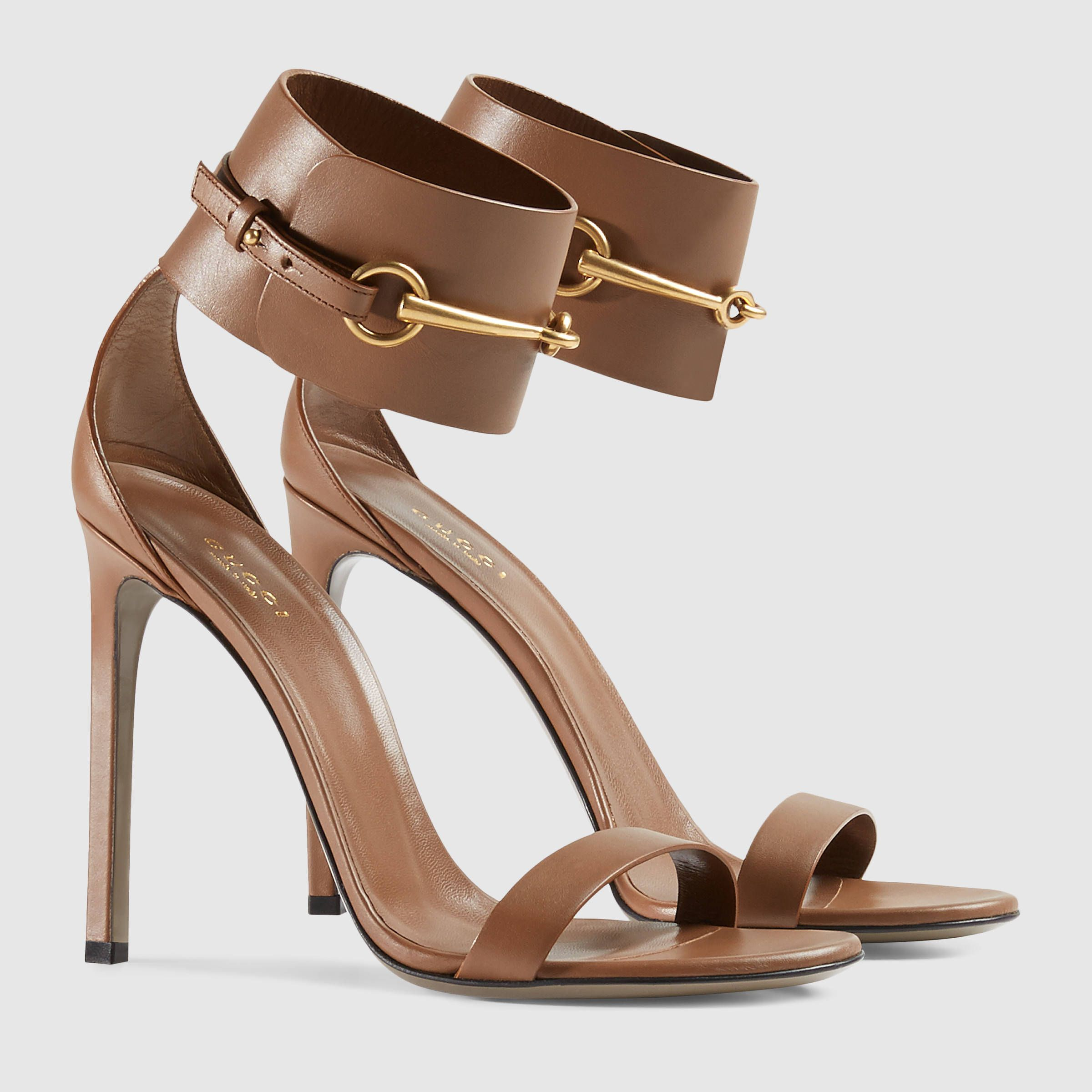 e893d20f1 Gucci Women - Ankle-strap leather sandal - 319587A3N002527 | sandals ...