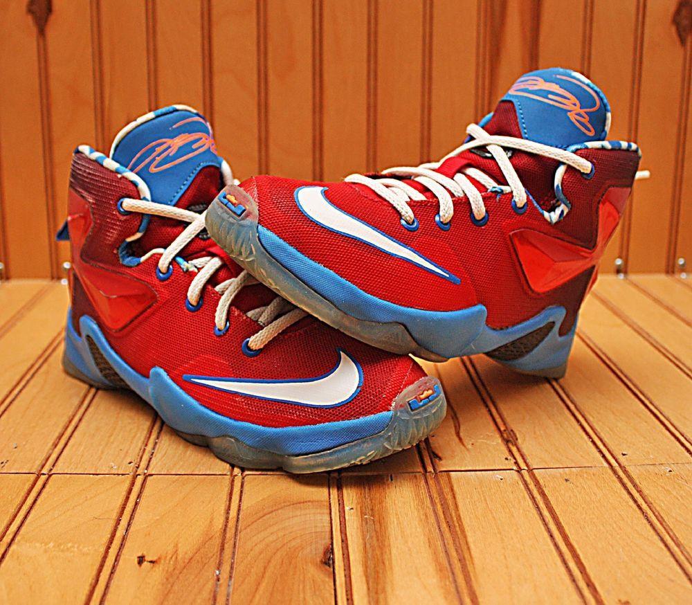 low priced 5b132 43848 Nike Lebron Soldier VIII 8 Size 6Y - White Navy Blue Orange - 653645 102   Nike  BasketballShoes   Nike LeBron   Nike lebron, Nike, Blue orange