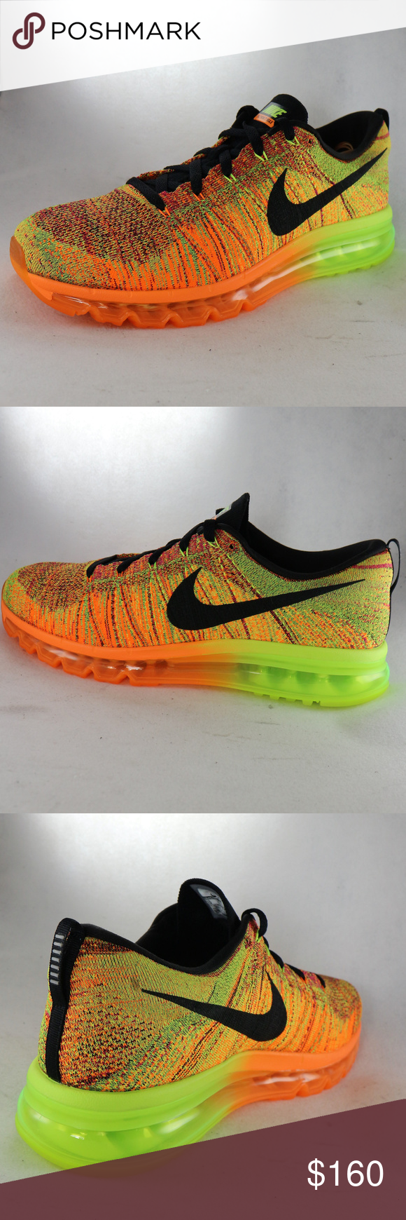 a16bb7f8385e authentic nike flyknit air max total orange volt sneakers like new  condition all around. absolutely