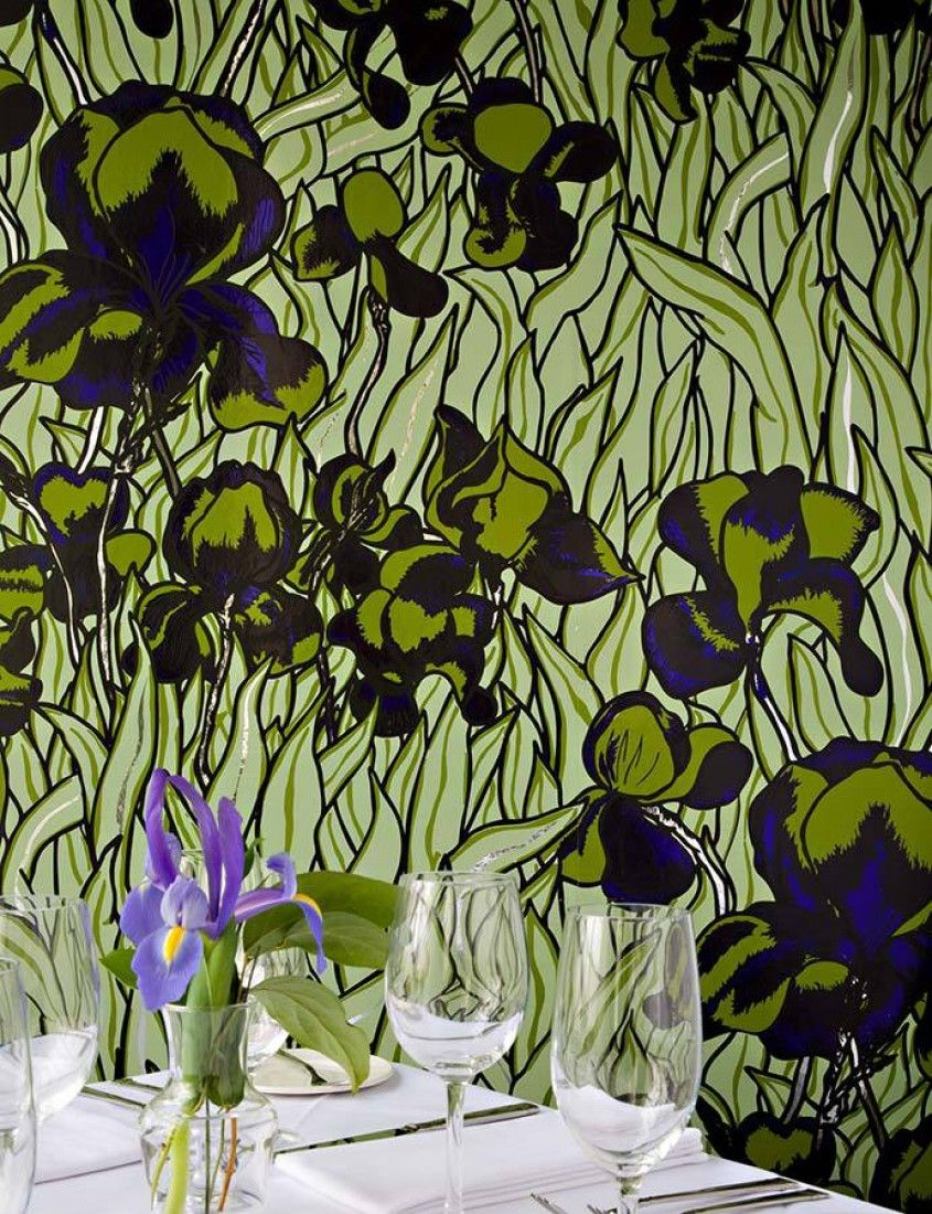 Iris Interior Pinterest Wallpaper Wall Wallpaper And Wall