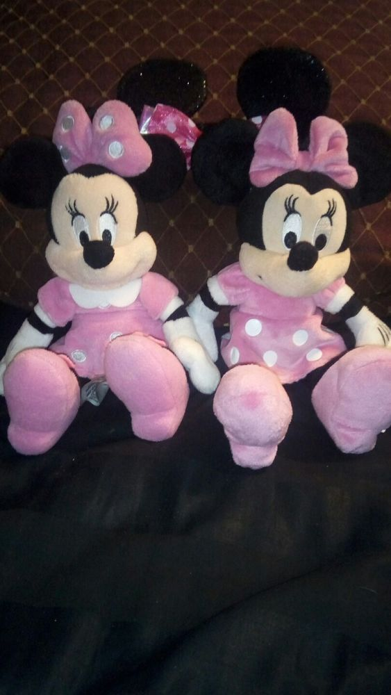 """Lot 2 8-9"""" Minnie Mouse Plush Dolls 
