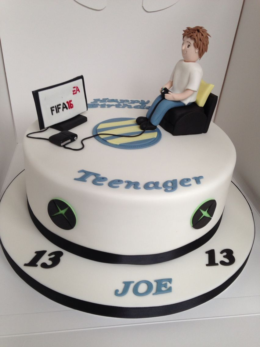 Teenager Xbox Fifa 16 Cake Taitans Bday Pinterest 18th