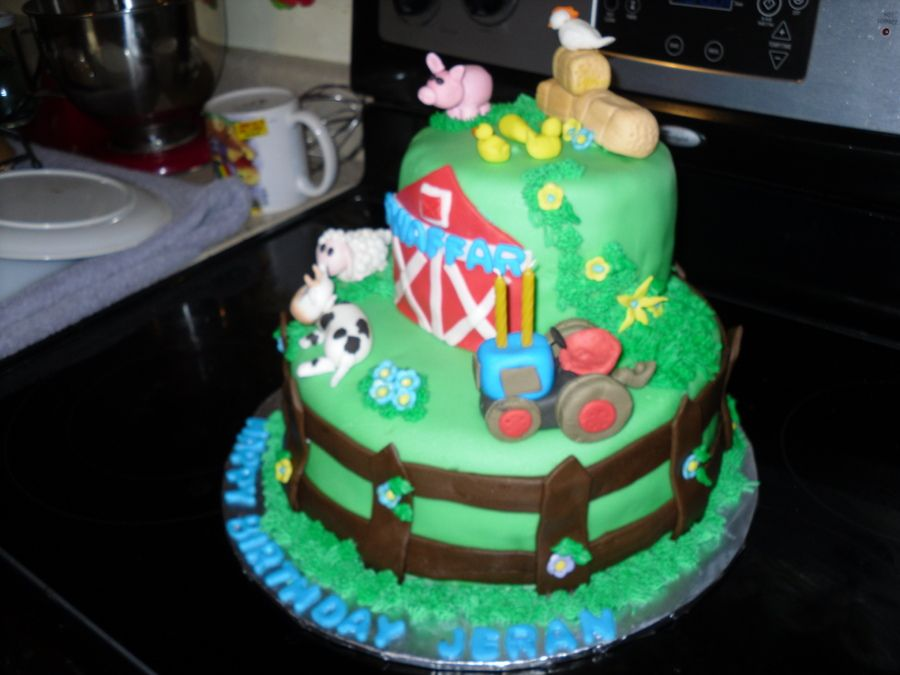 2 year boy cakes farm boy birthday cake made for a 2