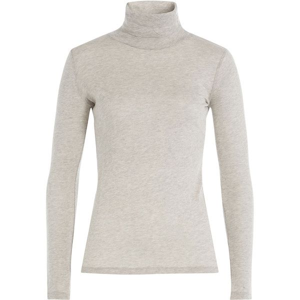 Majestic Cotton-Cashmere Turtleneck (£56) ❤ liked on Polyvore ...