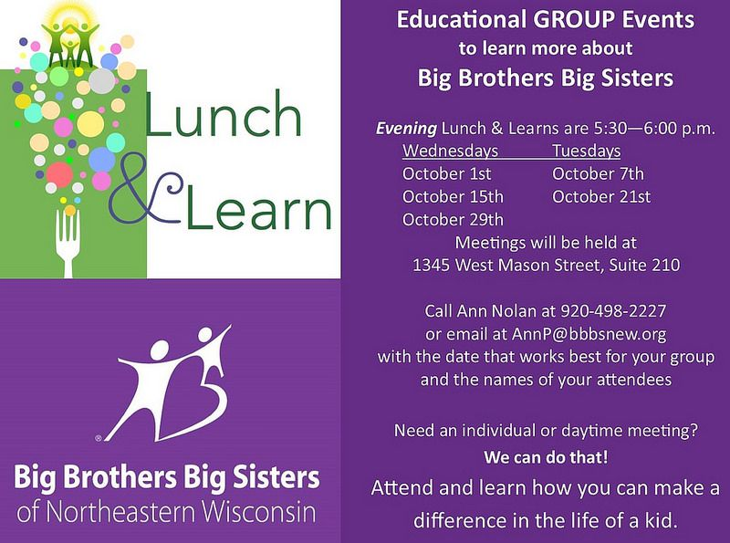 Big Brothers Big Sisters of Northeastern Wisconsin provides much needed adult mentoring skills to children in the area.