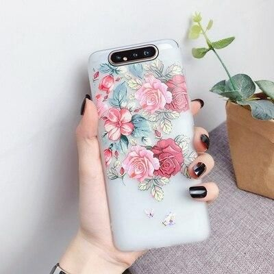 Flower Silicon Phone Case For Etui Samsung Galaxy A10 A20 A30 A40 A50 A60 A70 A80 Rose Floral Case Soft TPU Book Cover Coque