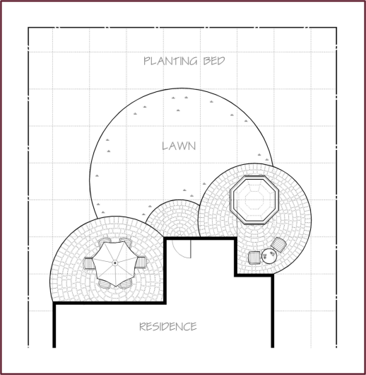 good example of a circular grid garden design