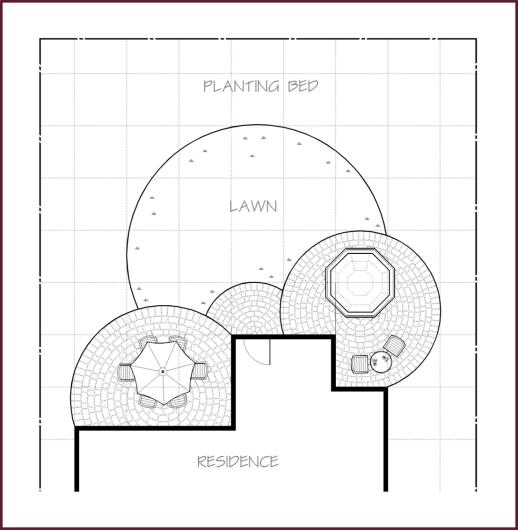 Grid Circular Garden Design Plans Garden Planning Landscape Design