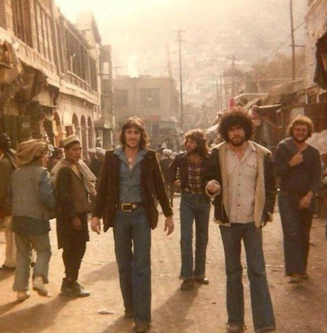 Hippies back in the 60's in Kabul.