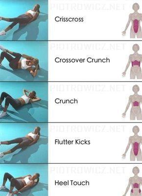5 Bauchmuskel-Übungen für einen flachen Bauch - Fitness trainingsplan - #Bauch #Bauchmuskelübungen #...