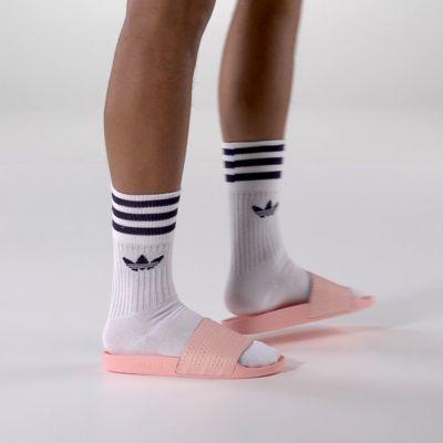 bfe4ea510da498 45  pink green slides adidas Since 1972
