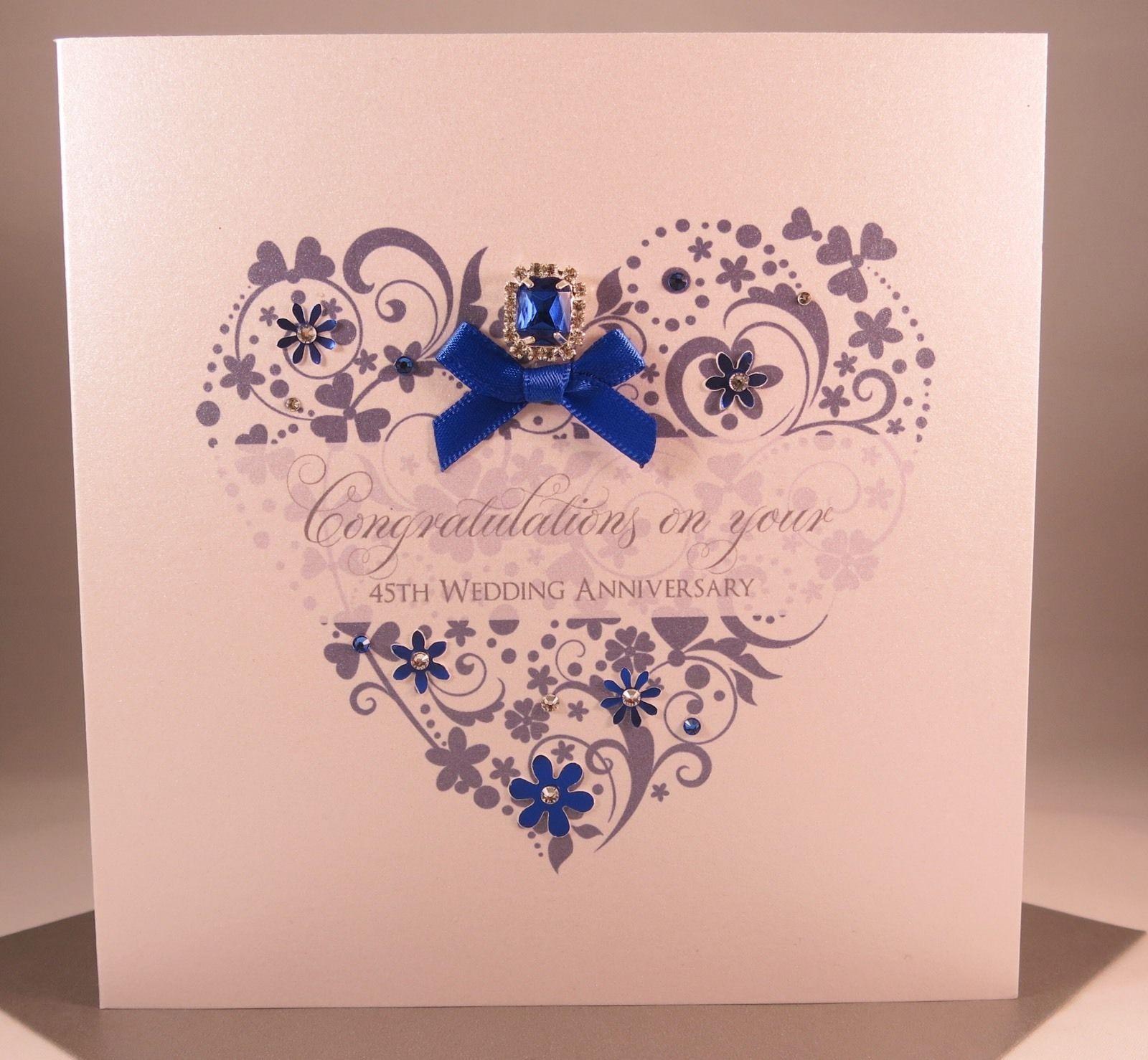 475 GBP Luxury Sapphire 45Th Wedding