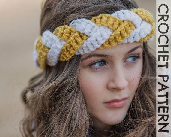 CROCHET PATTERN - Outfitters Braided Headband | crochet diademas ...