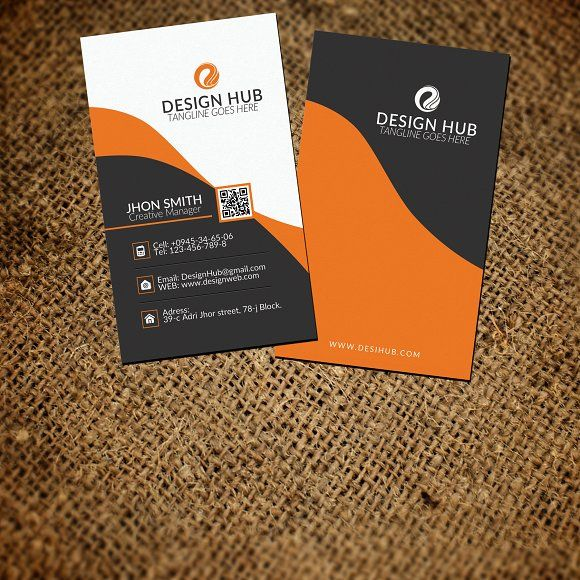 Vertical Business Card Template Vertical Business Cards Card - Vertical business card template psd