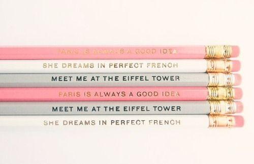 Paris Themed Pencils Adorable Via Tumblr