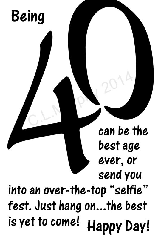 Download 40th Birthday Turning 40 Happy 40th Birthday Card