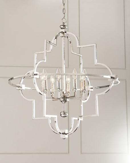 Open 8 Light Chandelier Chandelier Lighting Modern Glam Decor