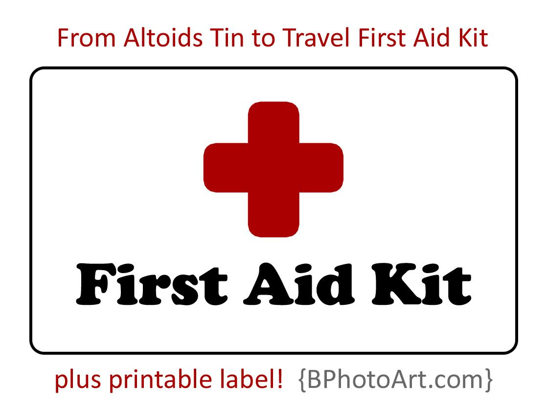 Diy Travel First Aid Kit  Altoids Tins Printable Labels And Aid Kit