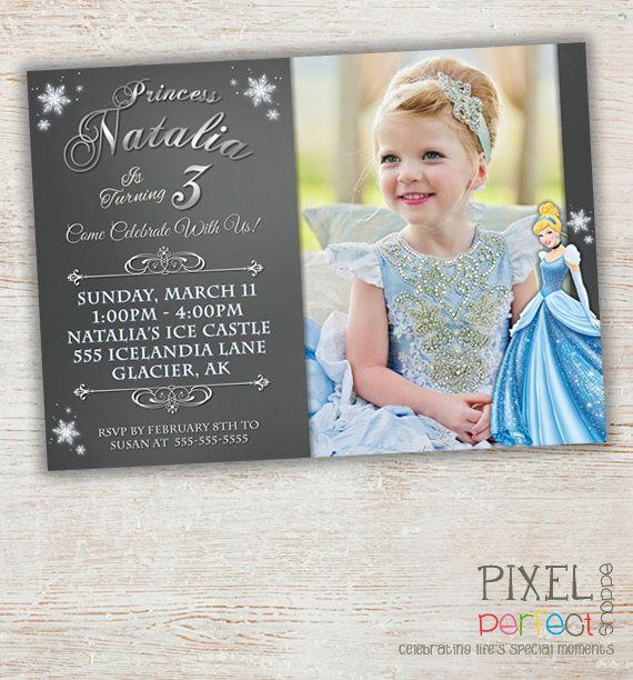 Cinderella Invitation, Cinderella Birthday Invitation, Cinderella, Disney Princess Invitation, Custom Party Printables, Disney Invitation on Etsy, $20.00