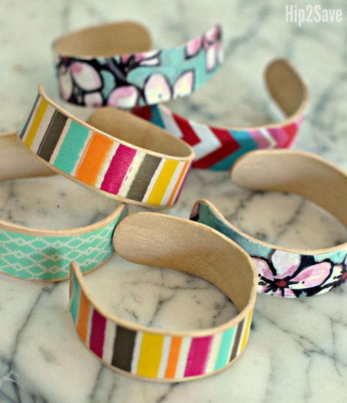 Craft Stick Bracelets (Fun Kids Craft Idea) | Hip2Save