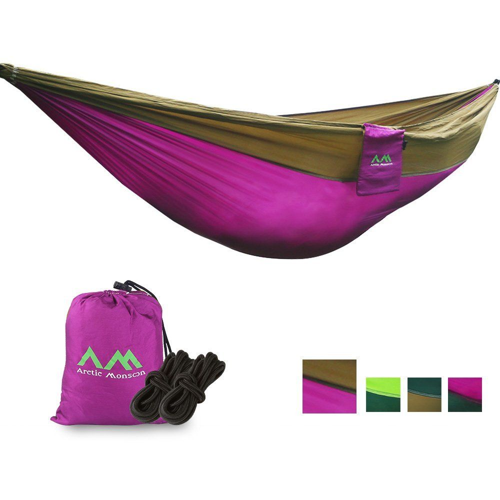 Double Camping Hammock Nylon Portable Hammock Best Parachute Double Hammock For Backpacking Yard. Beach Camping Travel