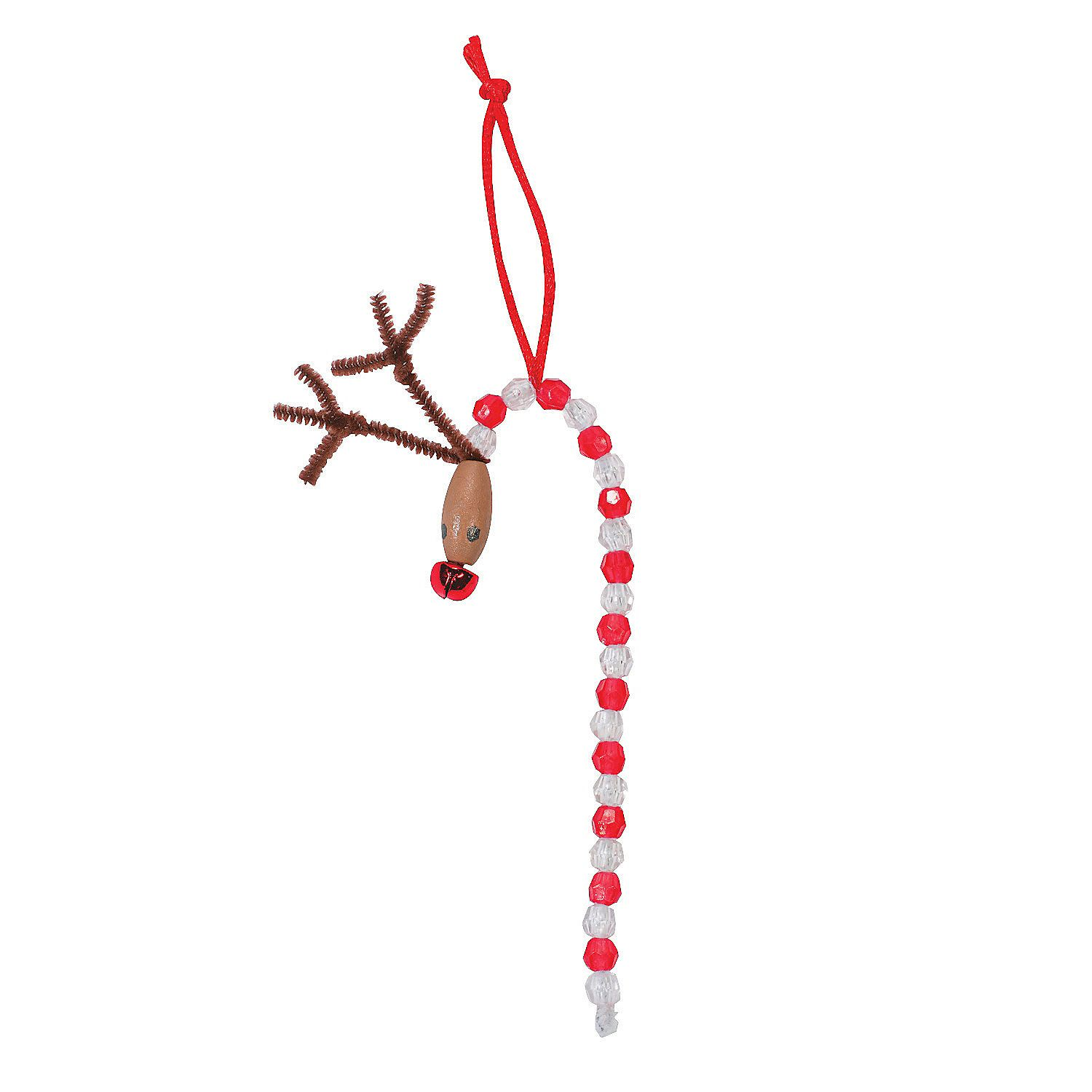 Beaded Reindeer Ornament Craft Kit  Orientaltradingcom