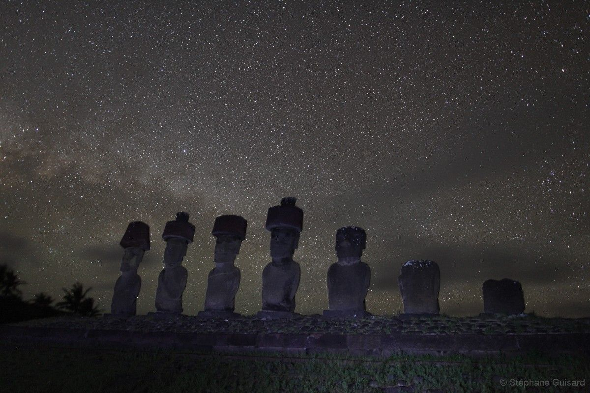 Easter island. Beautiful photography of foreign skies on this site.