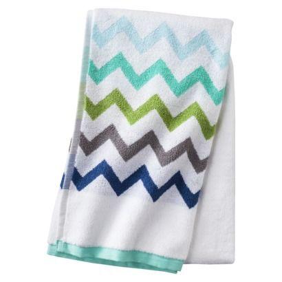 Circo 174 Chevron Bath Towel True White Chevron Bathroom
