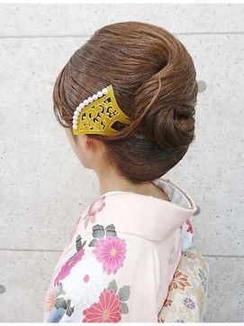 京都ヘアセット&着付け専門店-夢館 yumeyakata-【ユメヤカタ】【訪問着ヘア・和髪】抱き合わせの綺麗なヘアアレンジ◆夢館                                                                                                                                                                                 もっと見る