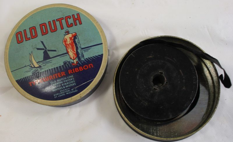 Old Dutch Typewriter Ribbon Tin
