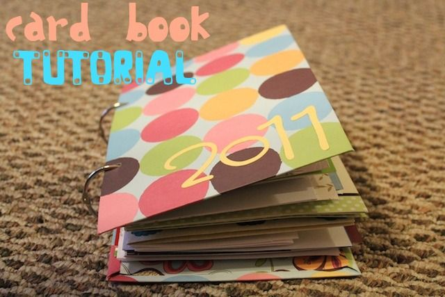 DIY card book - great for our wedding cards, Christmas cards, etc.