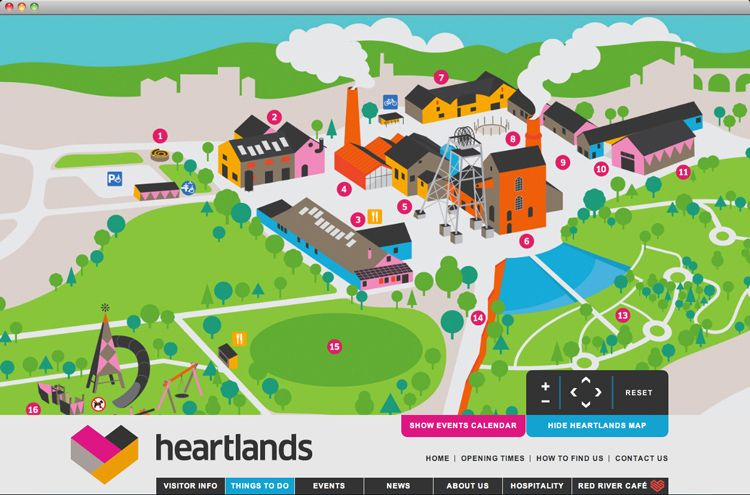Cornwall Interactive Map Heartlands Cornwall Interactive Map   developed by Dewsign