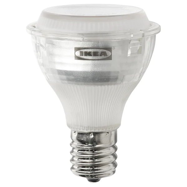 Ledare Led Bulb E17 Reflector R14 400 Lm Dimmable Warm Dimming 2700 K Ikea In 2020 Led Bulb Large Lamp Shade Bulb