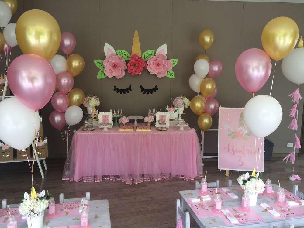 Unicorn birthday party ideas unicorn carousel theme - Decoracion fiestas de cumpleanos ...