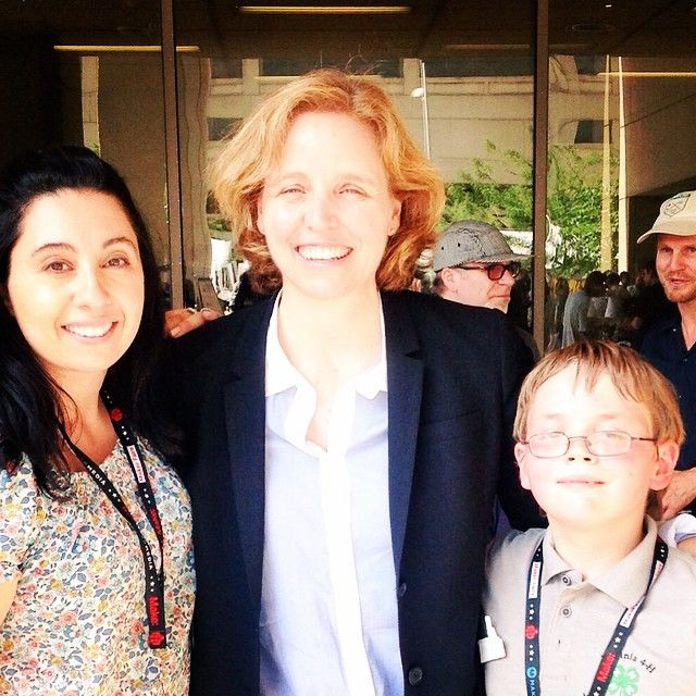 So excited...Megan Smith, the Chief Technology Officer of the US tried Morphi today at @natlmakerfaire!!