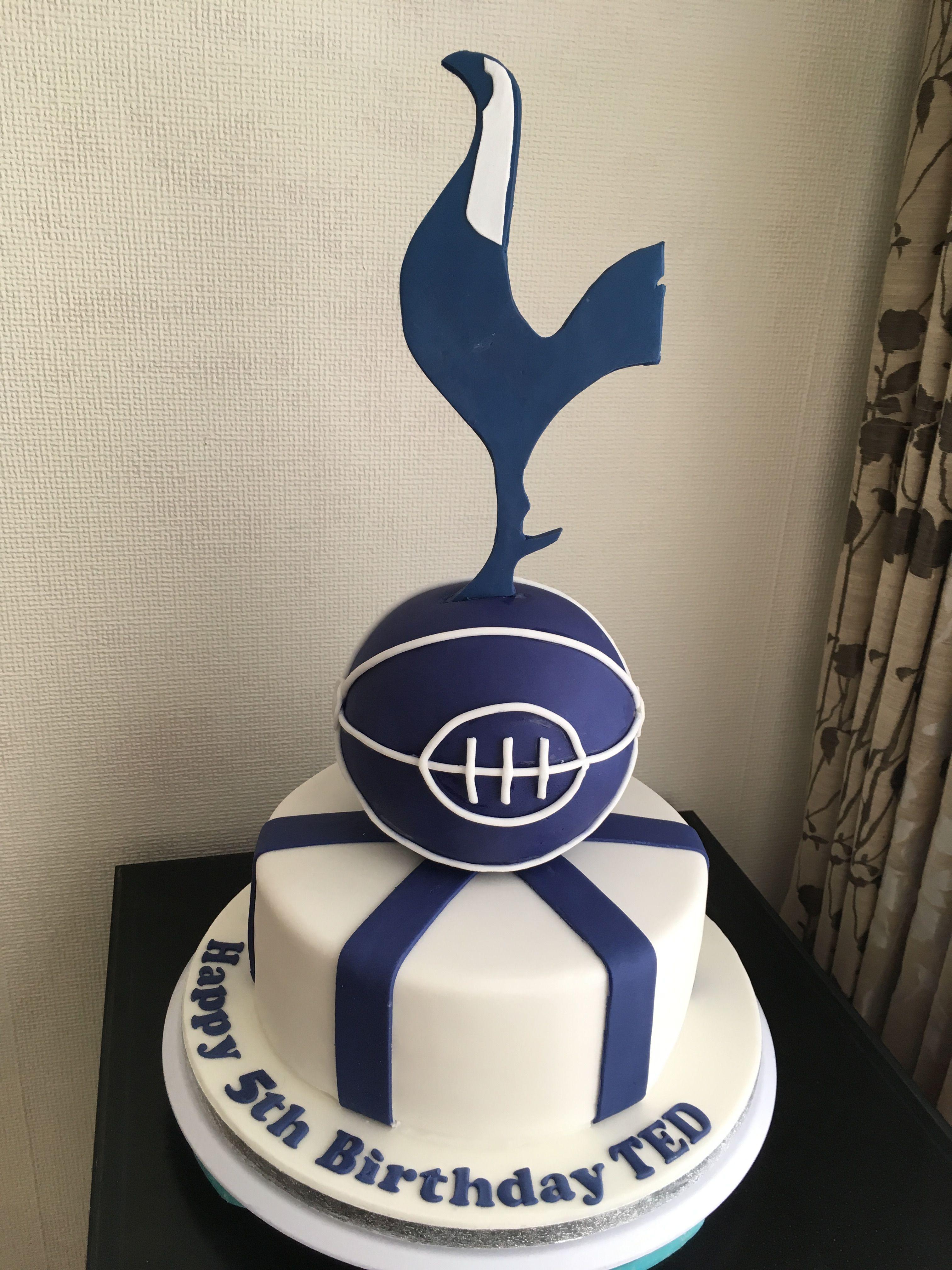 Pin By Sue Vallender On Tottenham Hotspur Tottenham Hotspur Cake Birthday