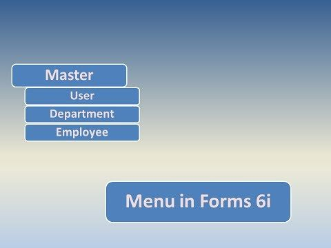 How to design and build Menu in Oracle Form Builder