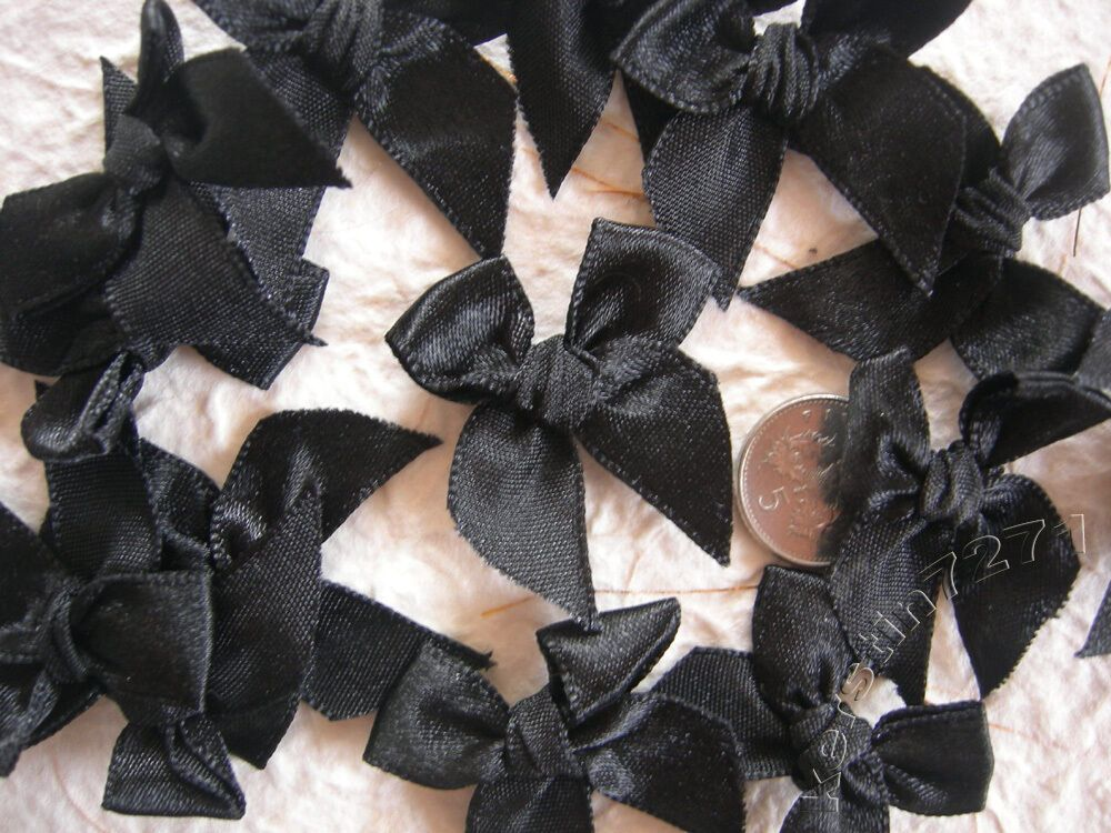Pretty Polka Dot Bows Chocolate Brown Bow Embellishments For Cardmaking! 100