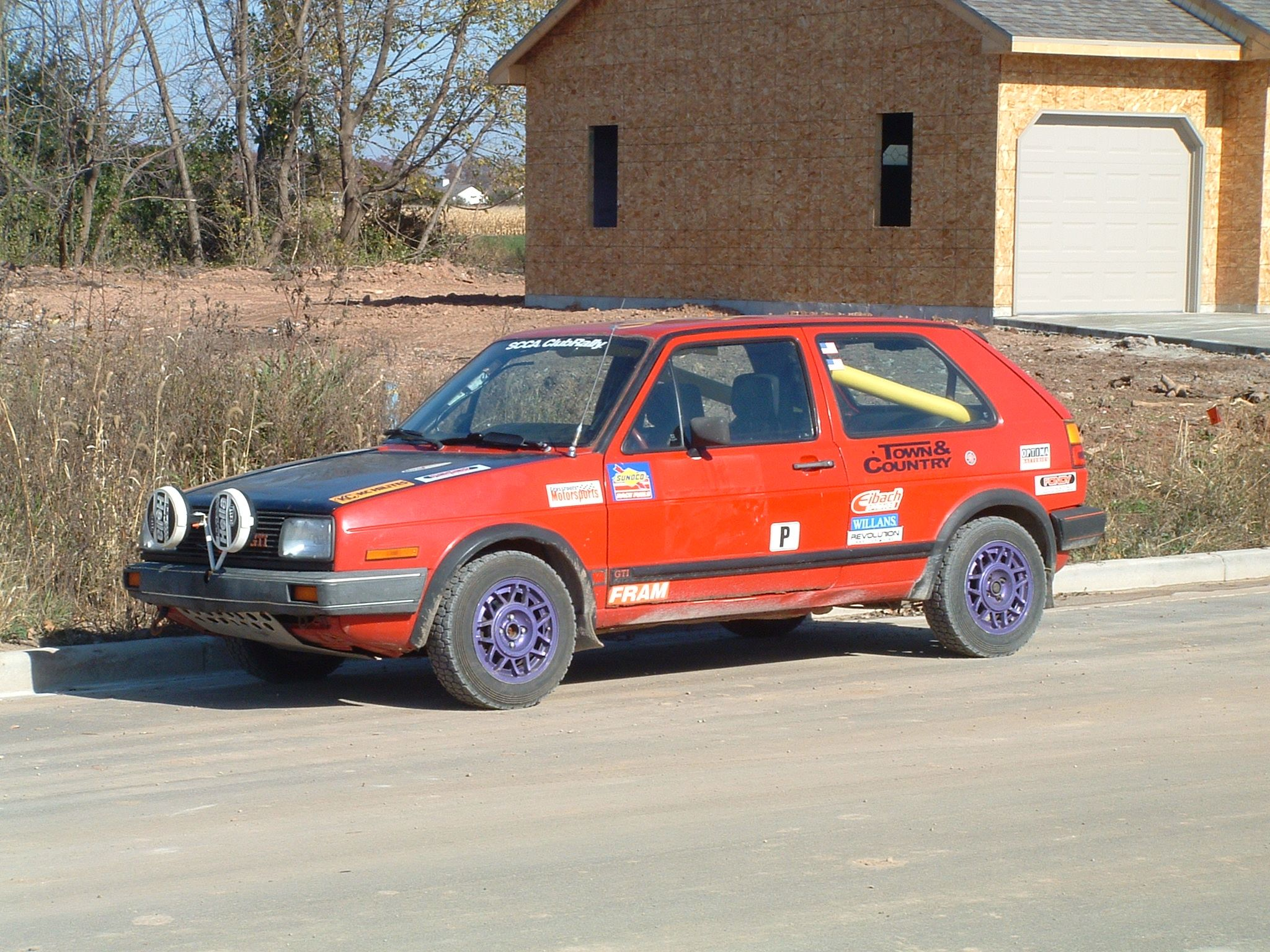 Fender flares and rear hatch hold downs | Volkswagen MK2 rally ...